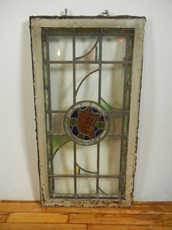 American Art Leaded Clear Glass Window Made in Chicago