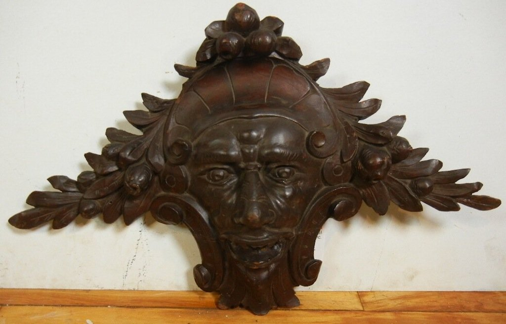 Fantastic Argentinean Wood Carved Face