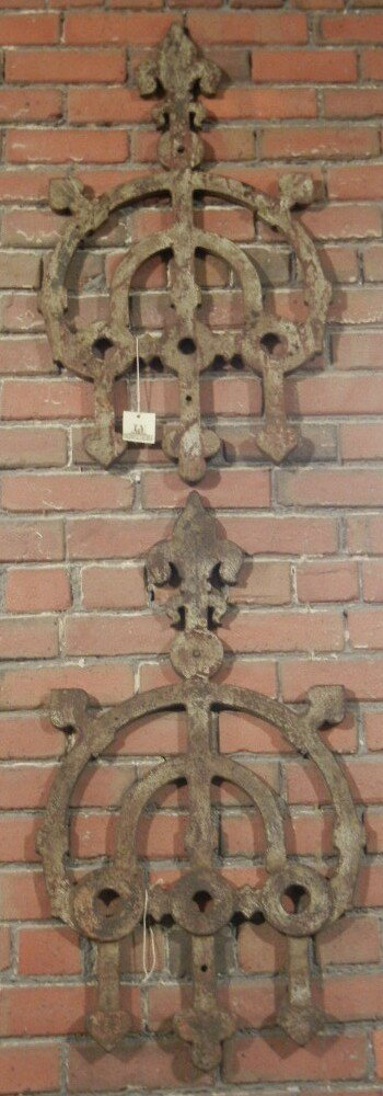 Pair of Argentinean Decorative Wrought Iron Panels, fro