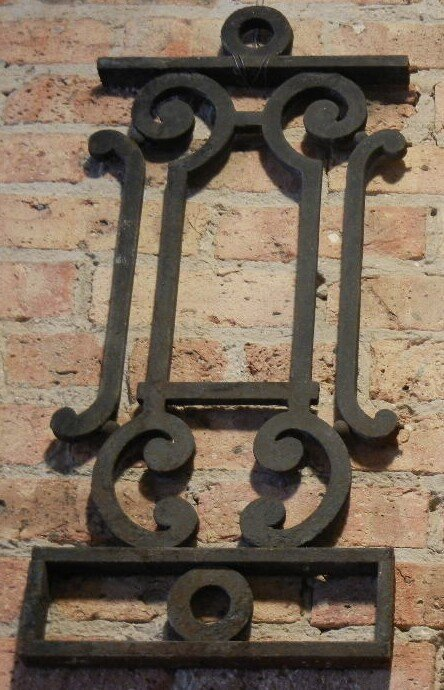 Decorative wrought iron fragment