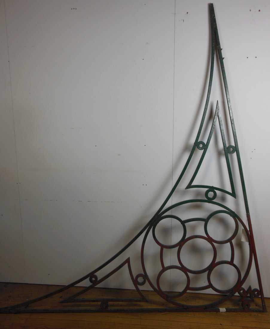 Argentinean wrought iron pediment-green