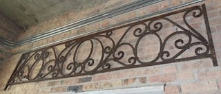American wrought iron panel