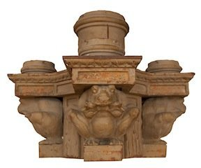 Set of 3 American cast iron 4 light frog sconce from Na