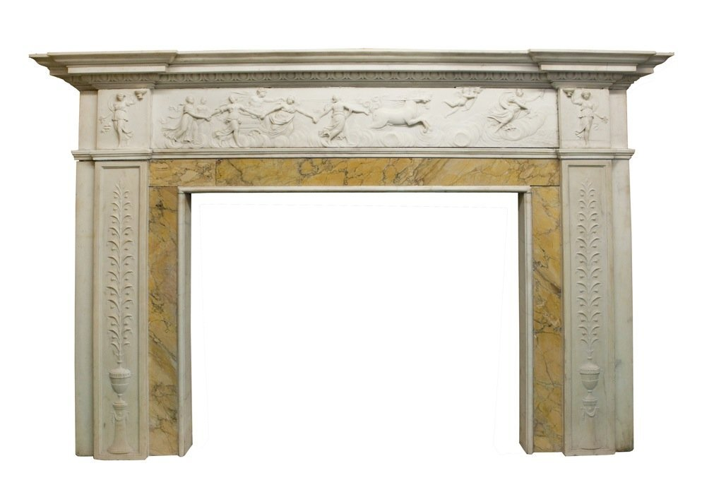 Spectacular Marble Fireplace