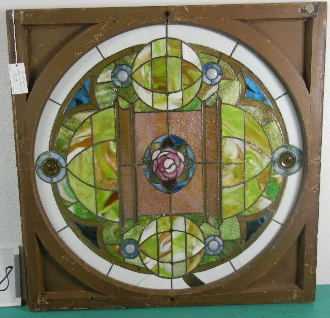 Outstanding American Arts and Crafts Stained Glass and