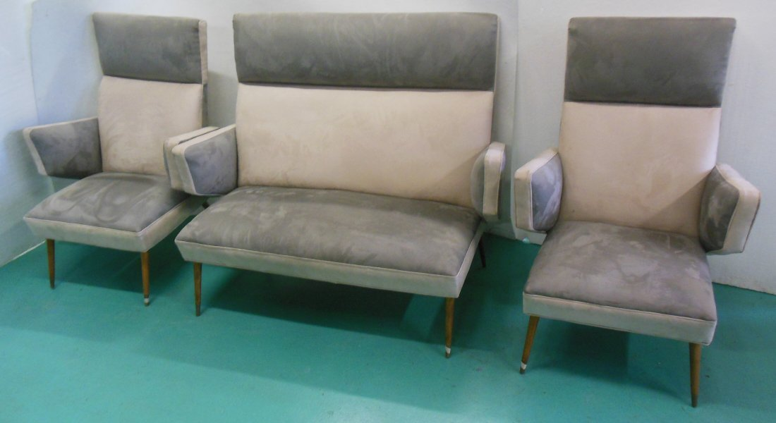 """3 Piece Set of Living Room Furniture, 2 Chairs (43.25"""""""