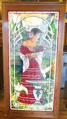 Bogenrief Spanish Dancer Leaded Glass Window