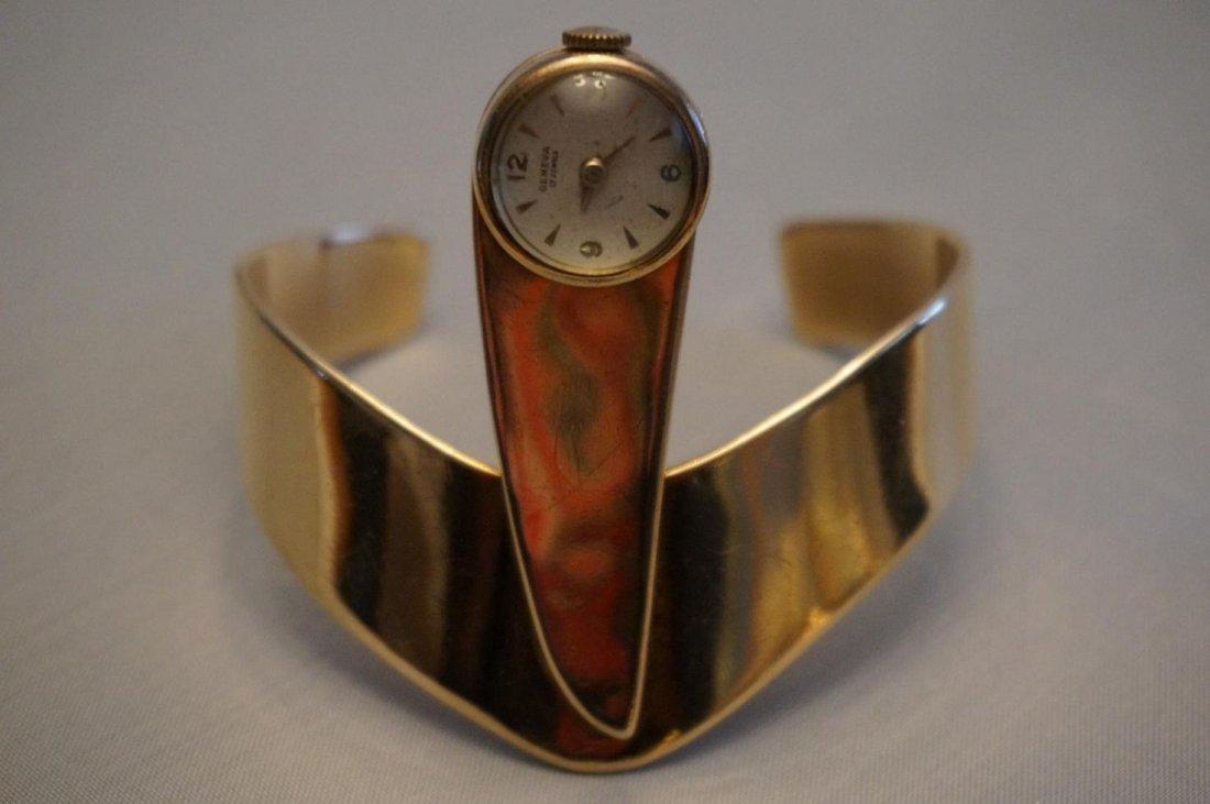 Chicago Artist John Kearney 14K Yellow Gold Watch Cuff