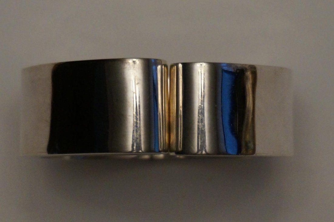 Sterling Silver Hinged Bracelet Marked Mexico .950