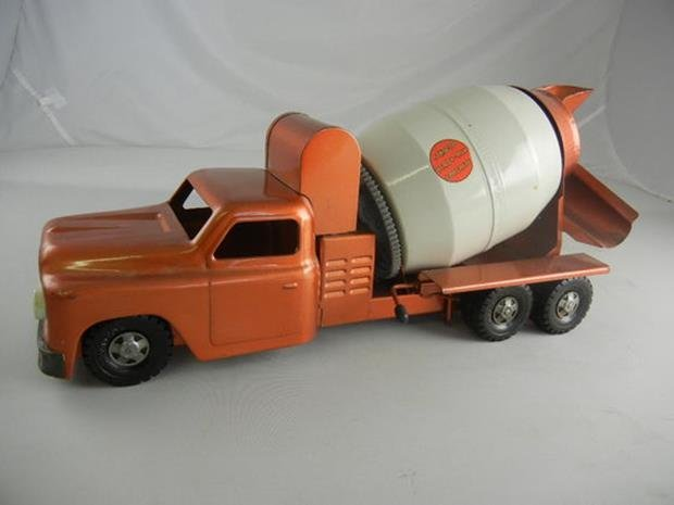 "Vintage Structo Ready Mix Concrete Truck 21-1/2"" Long"
