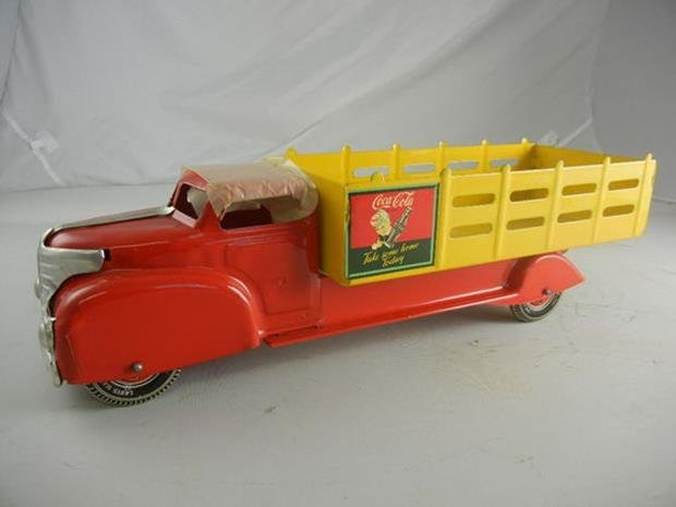 "1953 Marx Coca-Cola Truck #991 20-1/2"" Long"