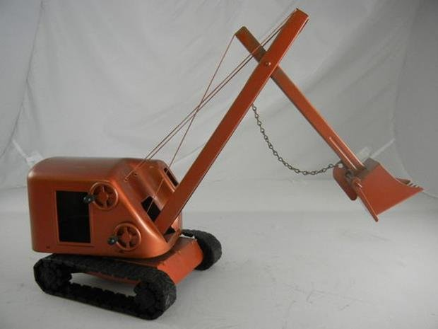 "Vintage Structo Construction Bulldozer 8"" Long + Shovel"