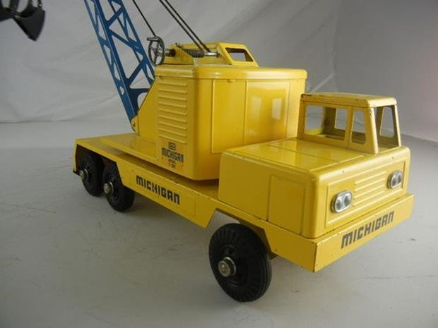 "Vintage Nylint Michigan T-24 Truck Crane 17"" Long - 3"