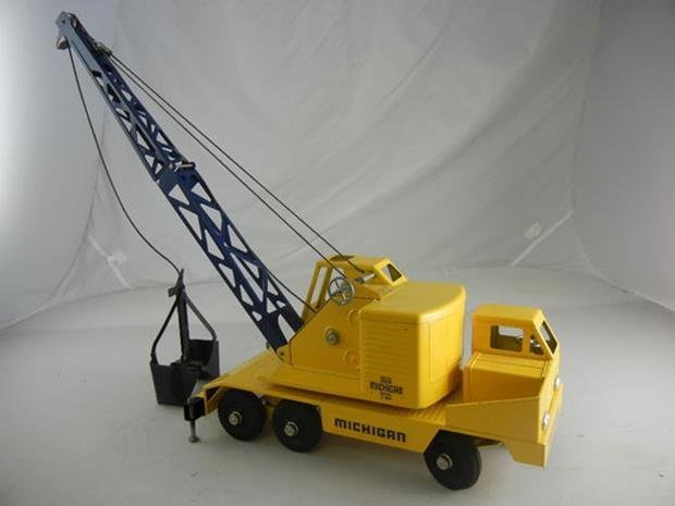 "Vintage Nylint Michigan T-24 Truck Crane 17"" Long - 4"
