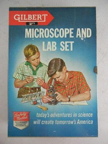 Vintage Gilbert #13072 Microscope and Lab Set Complete