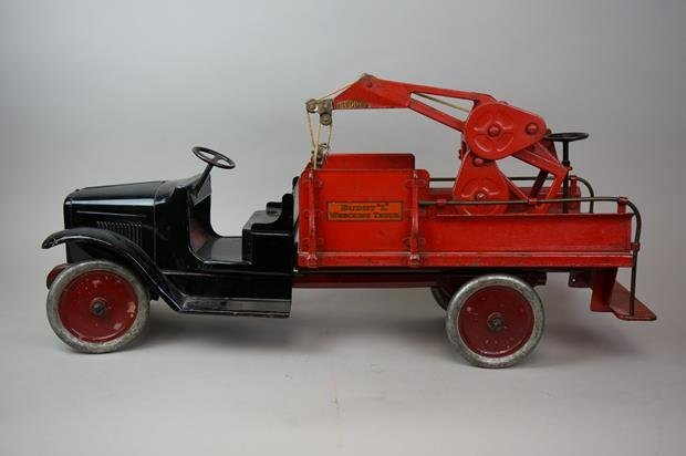 Antique Buddy L Wrecking Truck - 2