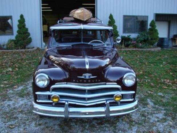 1950 Plymouth Special Deluxe Woodie Wagon with Matching - 3