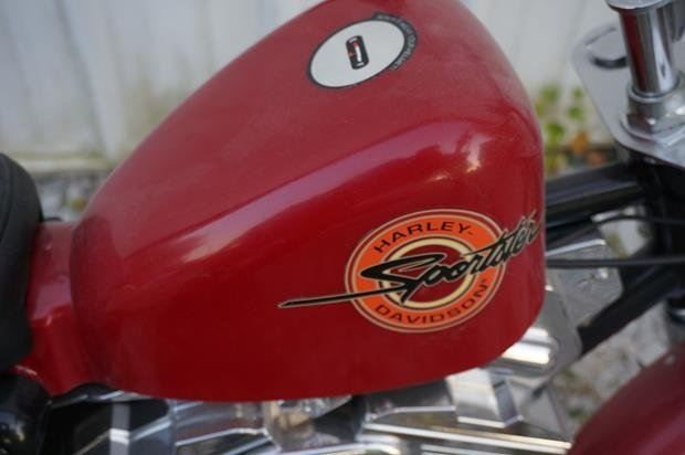 Harley Davidson Sportster by Roadmaster Bicycle (Red) - 2