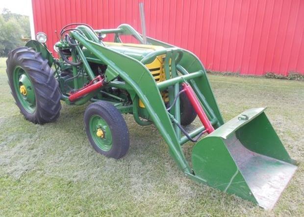 Oliver Super 55 Farm Tractor, Loader, Restored, 3pt