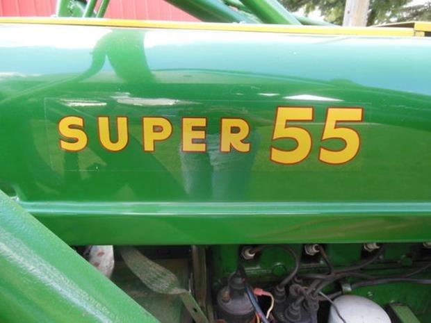 Oliver Super 55 Farm Tractor, Loader, Restored, 3pt - 2