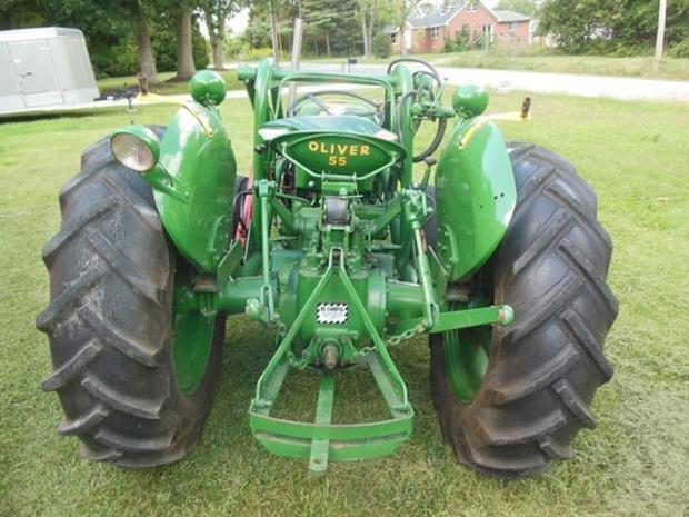 Oliver Super 55 Farm Tractor, Loader, Restored, 3pt - 6