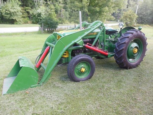 Oliver Super 55 Farm Tractor, Loader, Restored, 3pt - 7