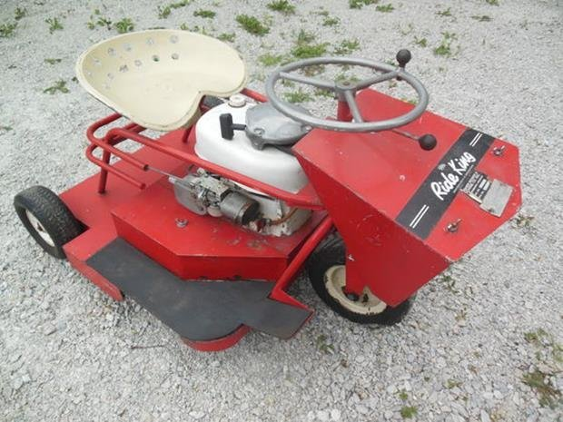 Ride King Lawn Mower, Runs!, Original Zero Turn Mower - 2