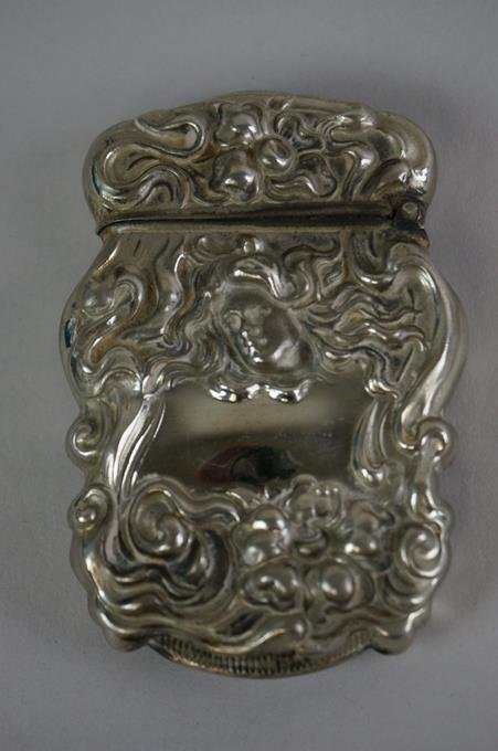 "Antique Sterling Silver Match Safe 2-1/2"" Tall .68 Troy"