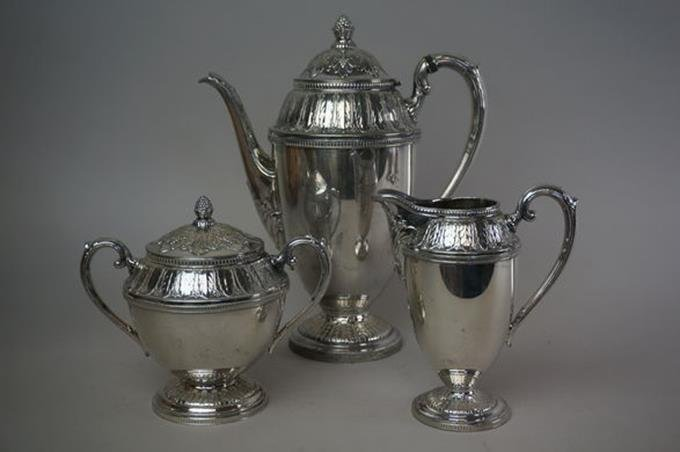 "International Silverplate ""Marquise"" 4 Pc Coffee Set"