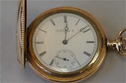 Ladies Elgin Gold-Filled Hunting Case Pocket Watch,
