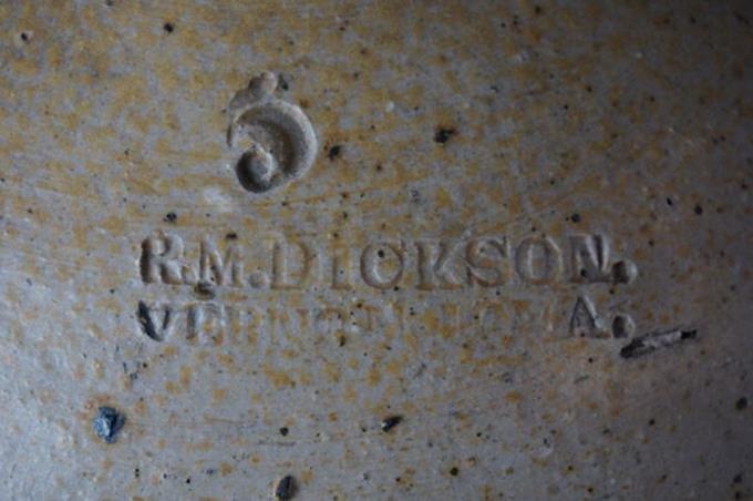R.M. Dickson 5 Gallon Two Handled Pottery Jug Vernon - 3