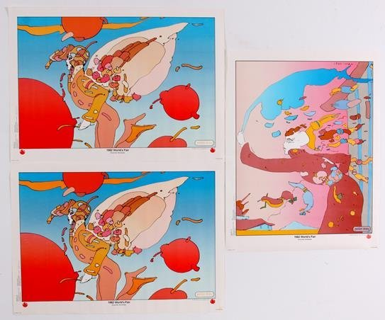 Peter Max 1982 World's Fair Posters