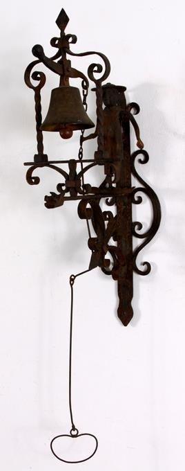 Hand Forged Iron Folk Art Doorbell Bell Pull - 3