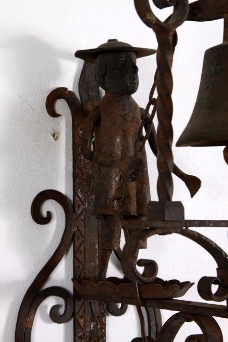Hand Forged Iron Folk Art Doorbell Bell Pull - 5