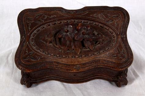 Carved Black Forest Music Box
