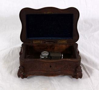 Carved Black Forest Music Box - 2