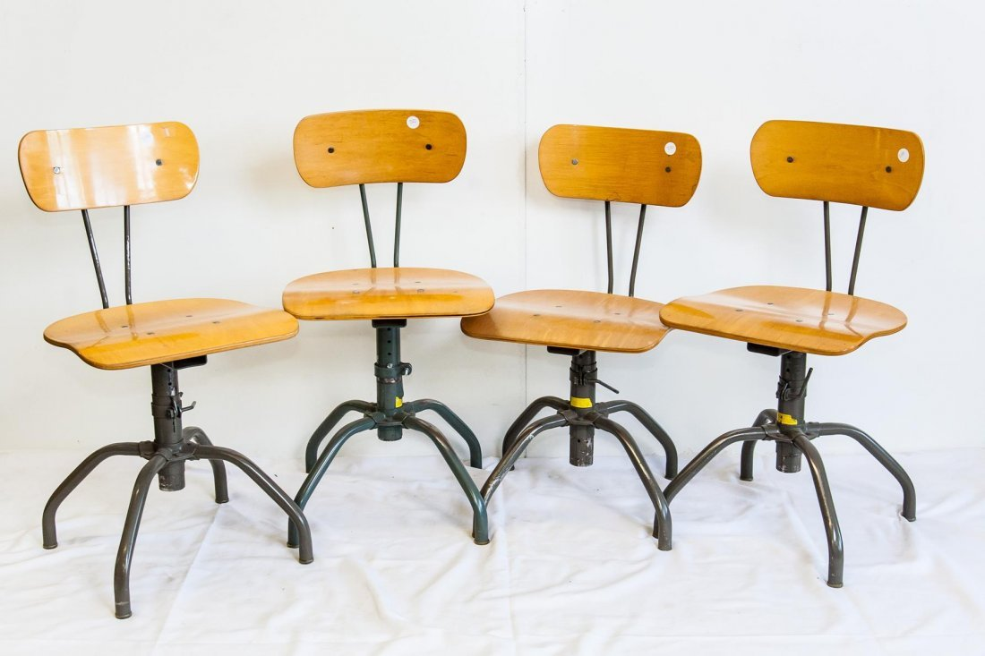 Set of 4 Bevco Industrial Chairs