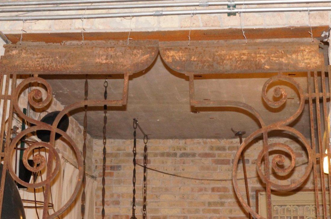 Pair of Wrought Iron Corner Brackets - 2