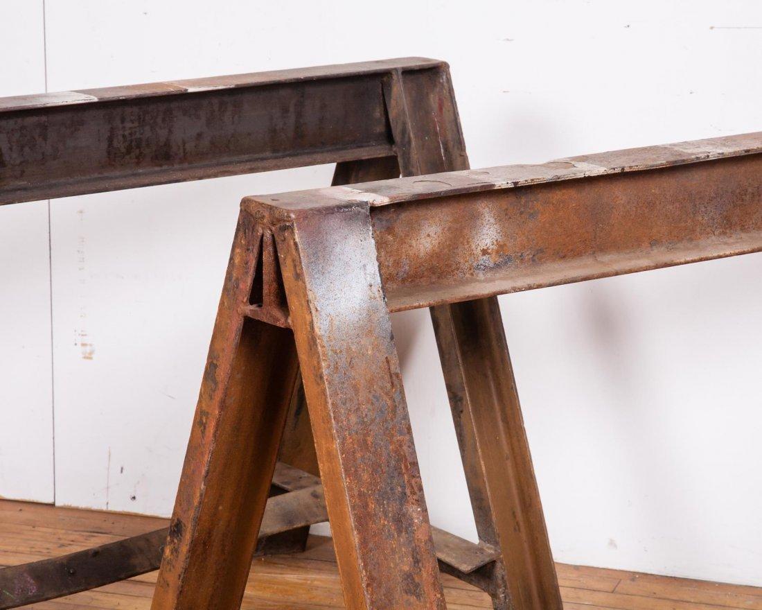 American Industrial Steel Saw Horses - 3