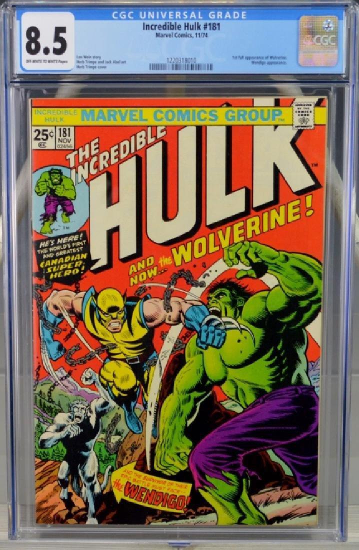 Incredible Hulk #181 1st Wolverine CGC
