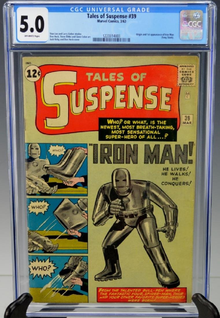 Tales of Suspense #39 1st App of Iron Man CGC