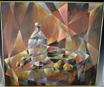 Mid Century Modern Oil on Canvas