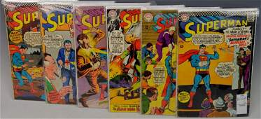 Silver Age Superman Comic Book Grouping