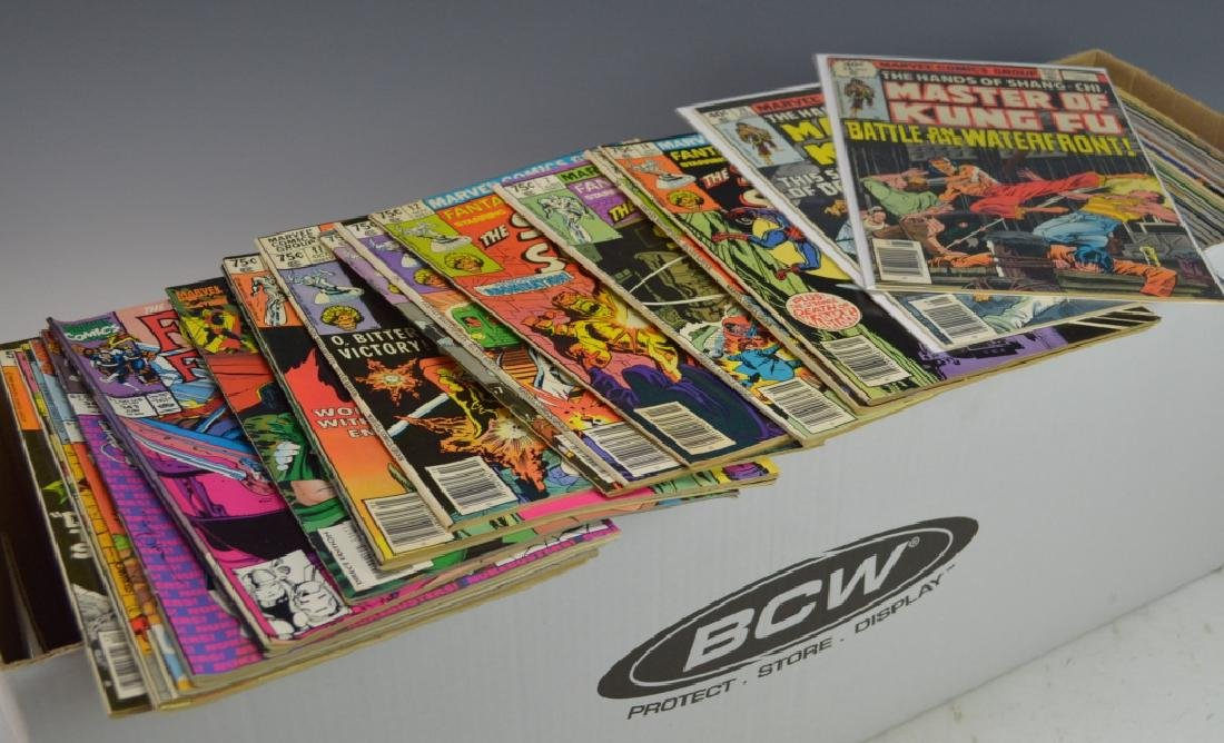 Long Box of Assorted Marvel Comic Books