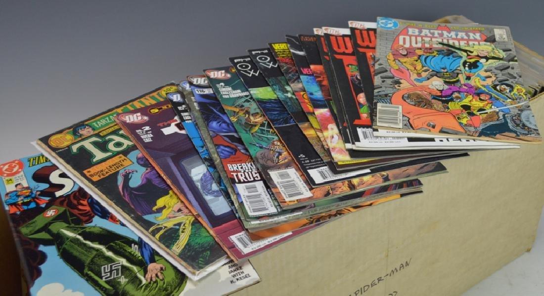 Long Box of Assorted DC Comic Books