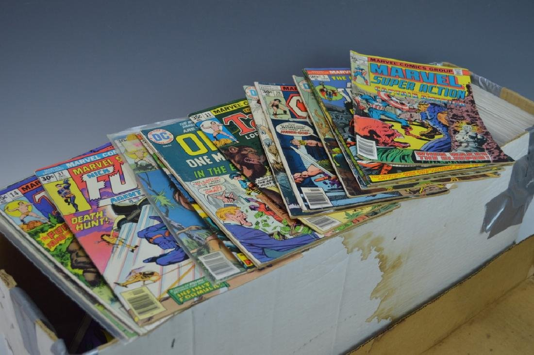 Long Box of Assorted Marvel, DC & Gold Key