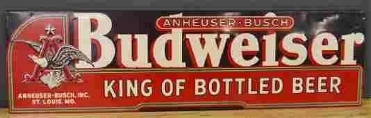 Anheuser-Busch Budweiser Embossed Tin Sign