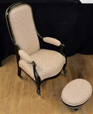 Victorian Childs Armchair and Ottoman