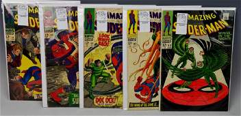 Amazing Spiderman Silver Age Comic Grouping