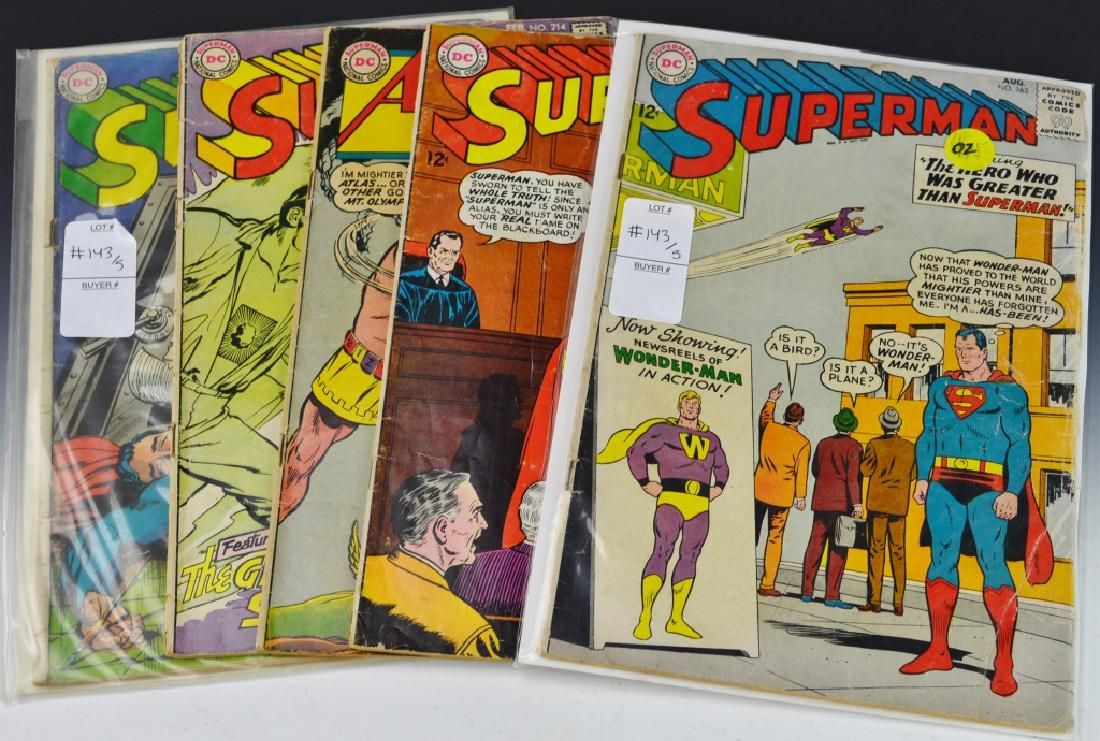 DC Silver Age Superman Comic Grouping